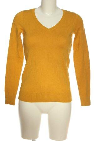 edc by Esprit V-Ausschnitt-Pullover blassgelb Casual-Look