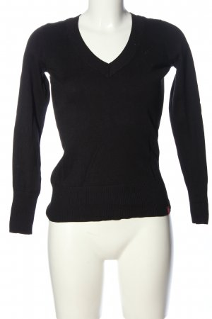 edc by Esprit V-Neck Sweater black casual look