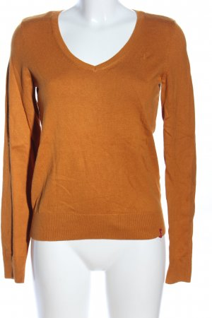edc by Esprit T-shirt col en V orange clair style décontracté
