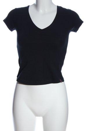 edc by Esprit Camisa con cuello V azul look casual