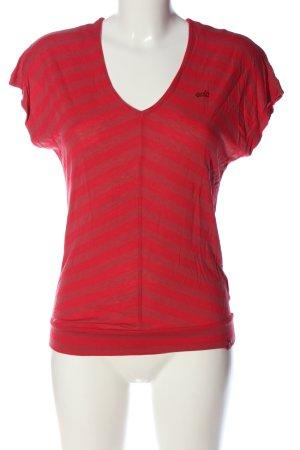 edc by Esprit Camisa con cuello V rojo estampado a rayas look casual