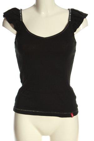 edc by Esprit Camisa con cuello V negro look casual