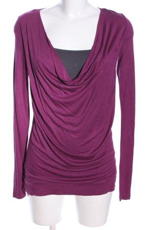 edc by Esprit Koszulka z dekoltem woda różowy-jasnoszary W stylu casual