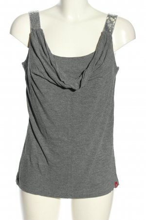 edc by Esprit Cowl-Neck Top light grey flecked casual look