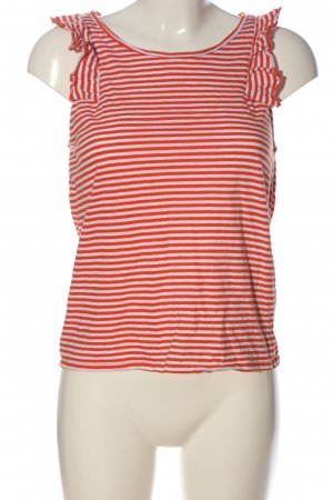 edc Camisole wit-rood gestreept patroon casual uitstraling