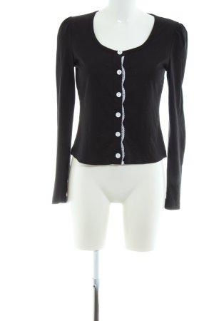 edc Kardigan czarny-biały W stylu casual