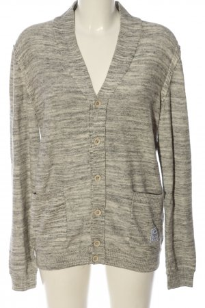 edc Cardigan creme-hellgrau Allover-Druck Casual-Look