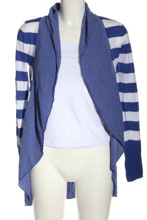 edc Kardigan niebieski-biały Wzór w paski W stylu casual