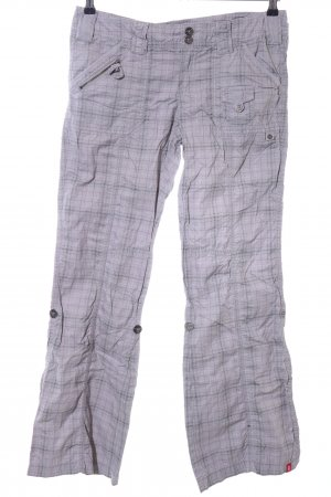 edc Cargo Pants light grey-white check pattern casual look