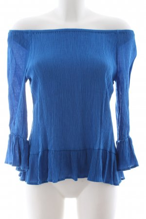 edc Carmen-Bluse blau Business-Look