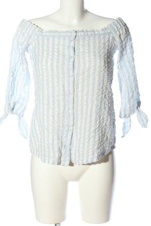 edc Carmen-Bluse blau-weiß Streifenmuster Casual-Look