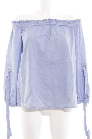 edc Carmen blouse blauw casual uitstraling