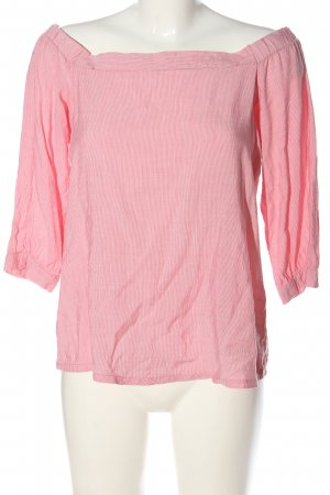 edc Carmen Blouse red-white striped pattern casual look