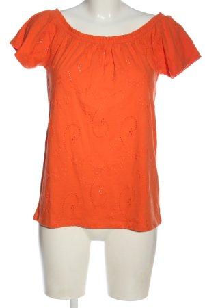 edc Koszula typu carmen jasny pomarańczowy Wzór w kwiaty W stylu casual