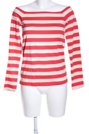 edc Camisa tipo Carmen rojo-crema estampado a rayas look casual