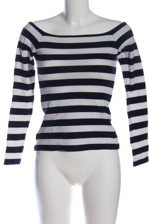 edc Top épaules dénudées noir-blanc motif rayé style décontracté