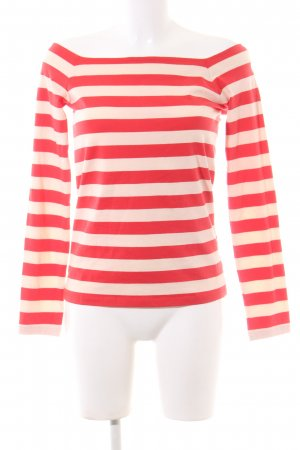 edc Carmen Shirt natural white-red striped pattern casual look