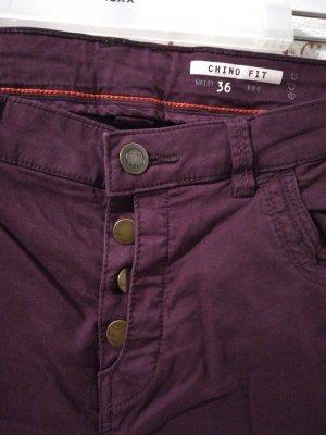 edc by Esprit Pantalon chinos rouge-brun coton