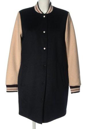 edc Chaqueta estilo universitario negro-crema look casual