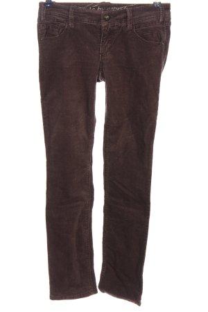 edc Corduroy broek bruin casual uitstraling
