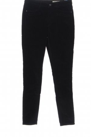 edc Corduroy Trousers black striped pattern casual look