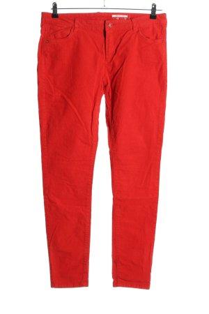 edc Corduroy broek rood casual uitstraling