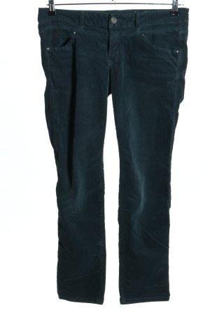 edc Pantalone di velluto a coste blu stile casual