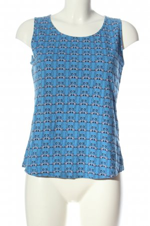 edc Cut out top blauw volledige print casual uitstraling
