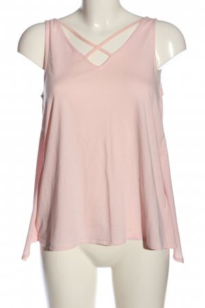 edc Top cut out rosa-crema look casual
