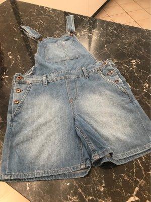 edc Salopette en jeans bleu acier-bleu azur