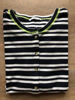 edc Stripe Shirt white-dark blue