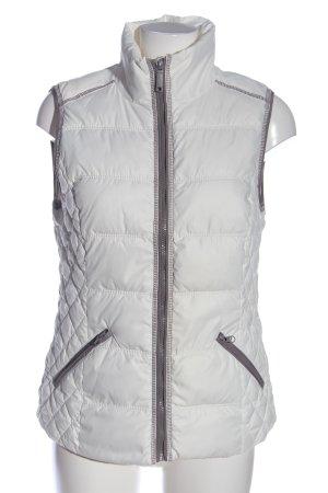 edc Gilet en duvet blanc motif de courtepointe style décontracté