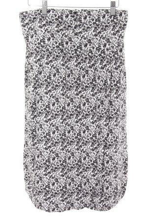 Edc Esprit Bandeaukleid weiß-schwarz florales Muster Casual-Look