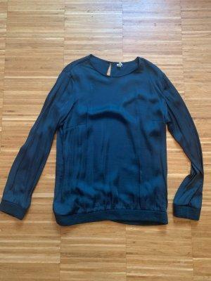 edc by Esprit Glanzende blouse donkergroen
