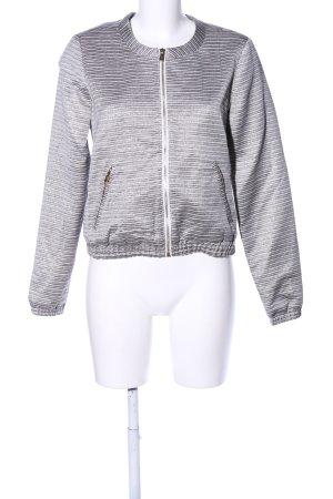 Edc Esprit Chaqueta estilo universitario gris claro-blanco estampado a rayas