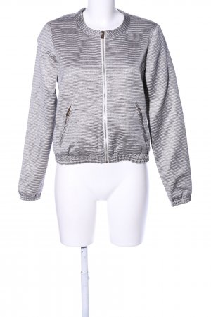 Edc Esprit Collegejacke hellgrau-weiß Streifenmuster Casual-Look