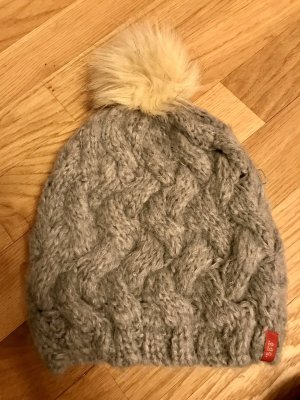 edc by Esprit Knitted Hat light grey-cream