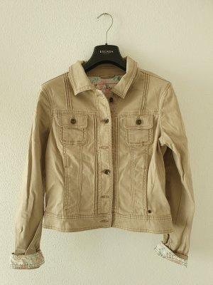 edc esprit jeansjacke beige stretch colored denim Jacke Kurzjacke