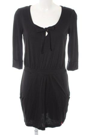 Edc Esprit Langarmkleid schwarz schlichter Stil