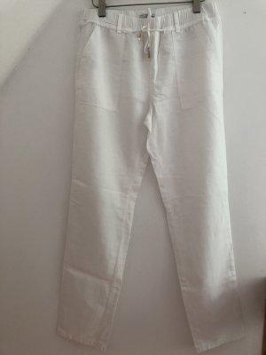 edc by Esprit Lniane spodnie biały Len