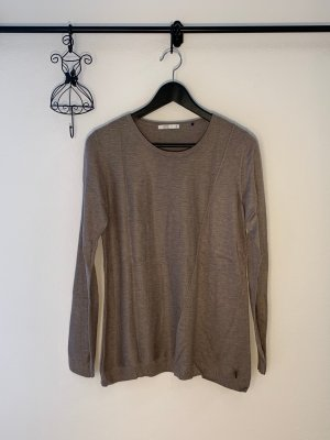 Edc Esprit Crochet Sweater grey brown-grey lilac