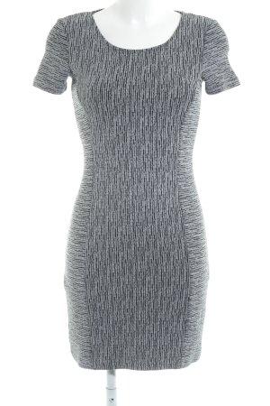 Edc Esprit Vestido de tubo negro-gris claro estampado a rayas elegante