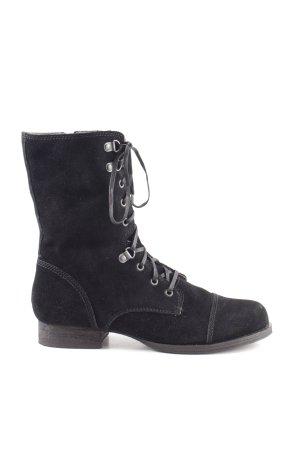 Edc Esprit Aanrijg laarzen zwart casual uitstraling