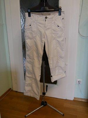 Edc Esprit Pantalone a 3/4 bianco Cotone