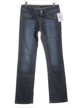 Edc Esprit Jeans a gamba dritta blu scuro stile da moda di strada
