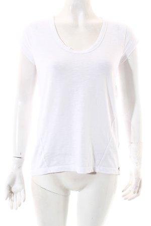 Edc Esprit T-Shirt weiß klassischer Stil