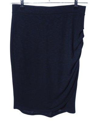 Edc Esprit Wraparound Skirt blue flecked casual look