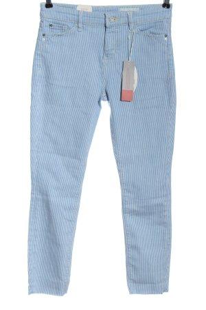 edc Five-Pocket-Hose blau-weiß Allover-Druck Casual-Look