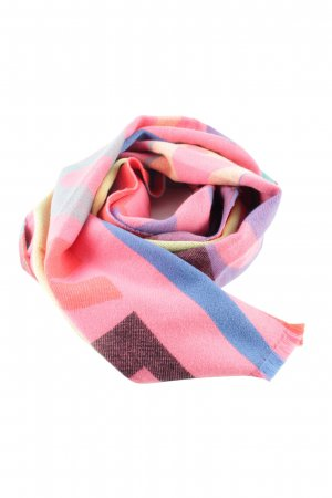 edc Fringed Scarf abstract pattern casual look