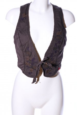edc Fringed Vest brown-lilac casual look